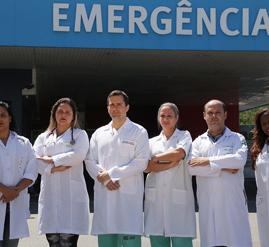 Equipe médica do Hospital Moacyr do Carmo