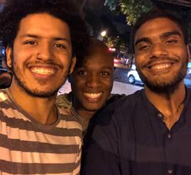 Spartakus Santiago, AD Júnior e Edu Carvalho